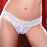 Jenna Crotchless Thong - White Sex Toy